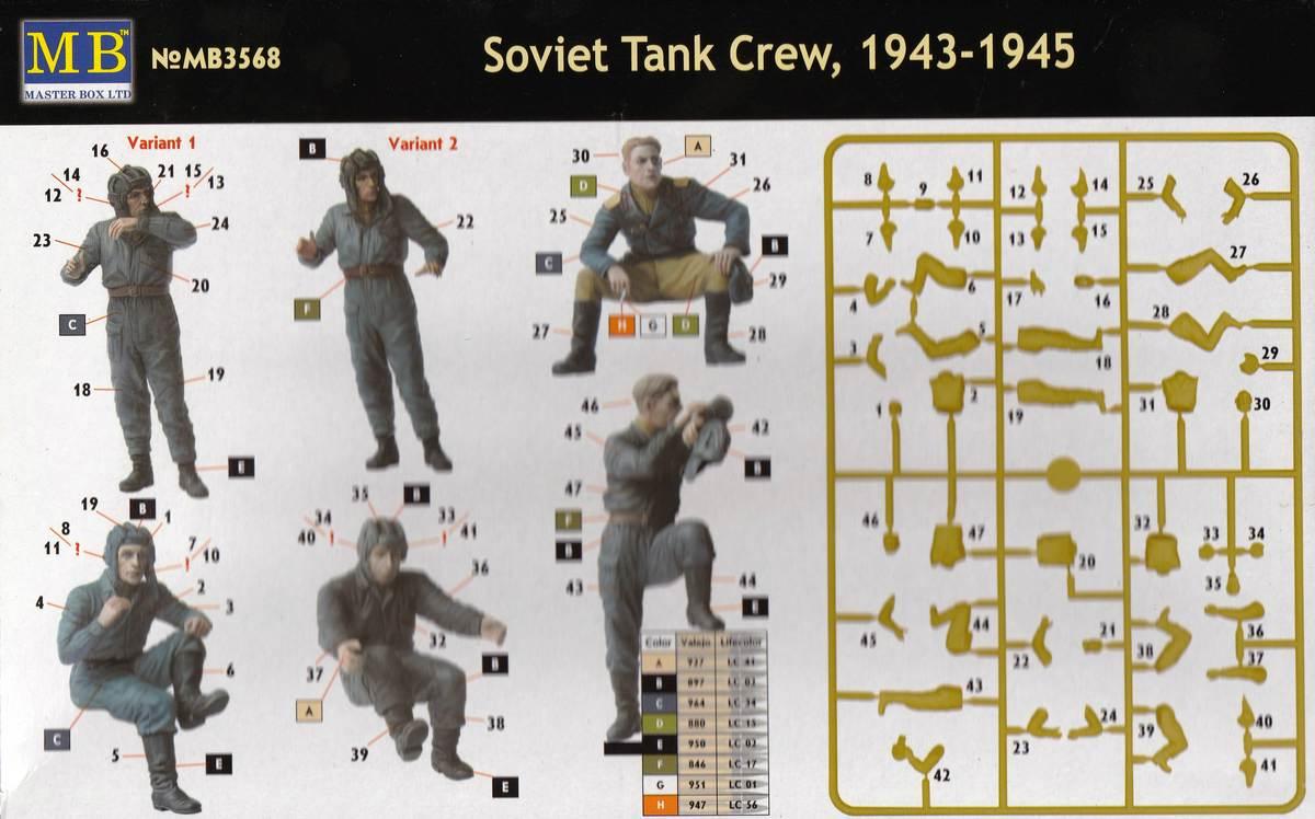 MasterBox-3568-Soviet-Tank-Crew-1943-4 Soviet Tank Crew 1943 - 1945 MasterBox # 3568