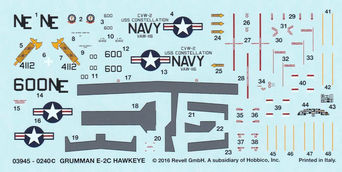 Revell-03945-Grumman-E-2C-Hawkeye-10 Grumman E-2C Hawkeye von Revell im Maßstab 1:144 ( 3945 )