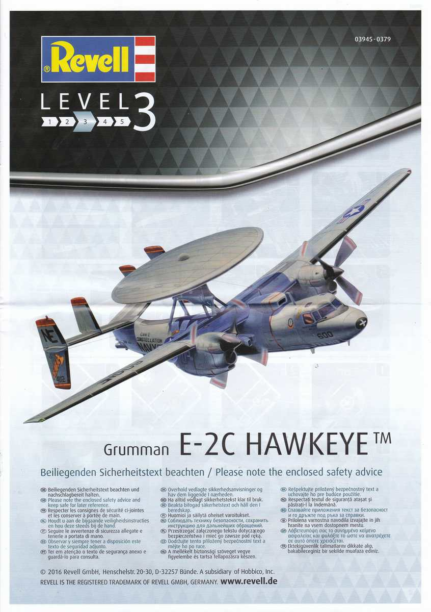 Revell-03945-Grumman-E-2C-Hawkeye-3 Grumman E-2C Hawkeye von Revell im Maßstab 1:144 ( 3945 )