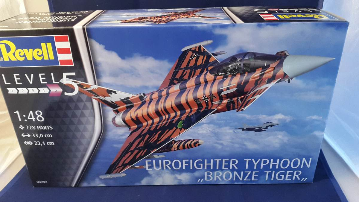 "Revell-03949-Eurofighter-BRonze-Tiger-1 Eurofighter Typhoon ""Bronze Tiger"" (Revell 1:48 # 03949)"
