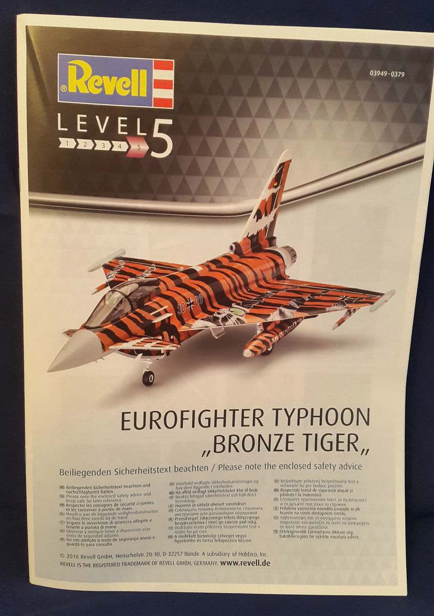 "Revell-03949-Eurofighter-BRonze-Tiger-10 Eurofighter Typhoon ""Bronze Tiger"" (Revell 1:48 # 03949)"