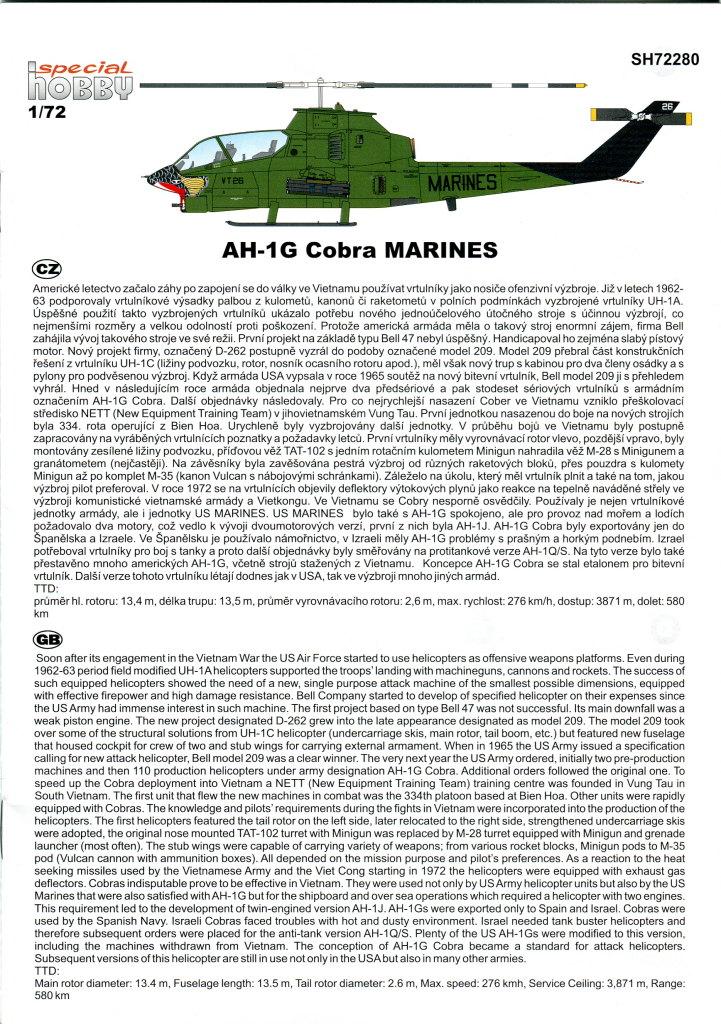 SH_AH-1G_46 AH-1G Cobra - Special Hobby - 1/72 - #SP72280
