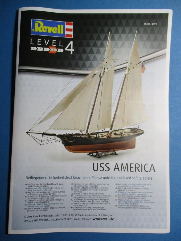 01_Anleitung-1-Deckblatt Yacht USS America im Maßstab 1:56 von Revell (# 05416 )