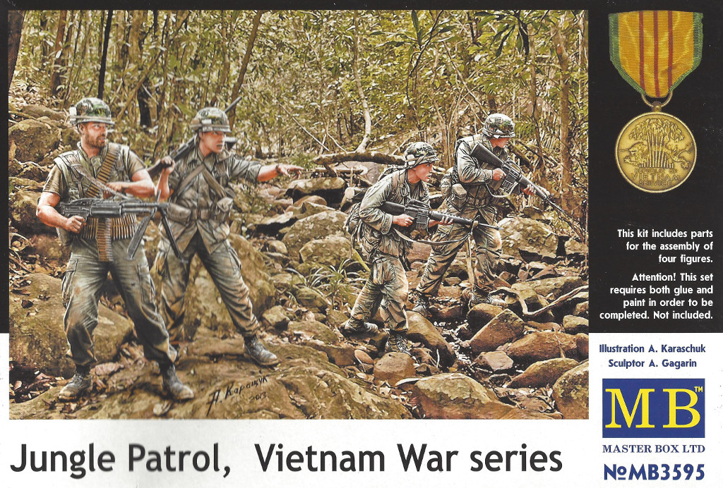 1-8 Jungle Patrol, Vietnam War Series Master Box LTD 1:35 (MB3595)