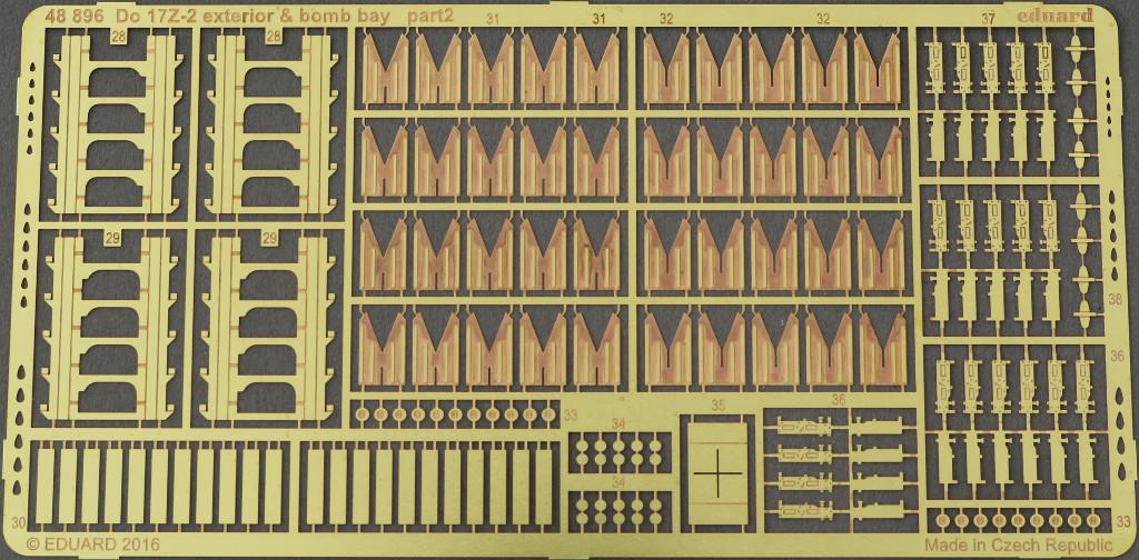 14 Diverses Zubehör von Eduard für die Dornier Do-17Z-2 von ICM