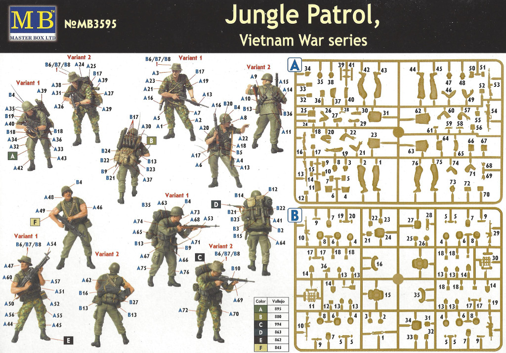 17-1 Jungle Patrol, Vietnam War Series Master Box LTD 1:35 (MB3595)