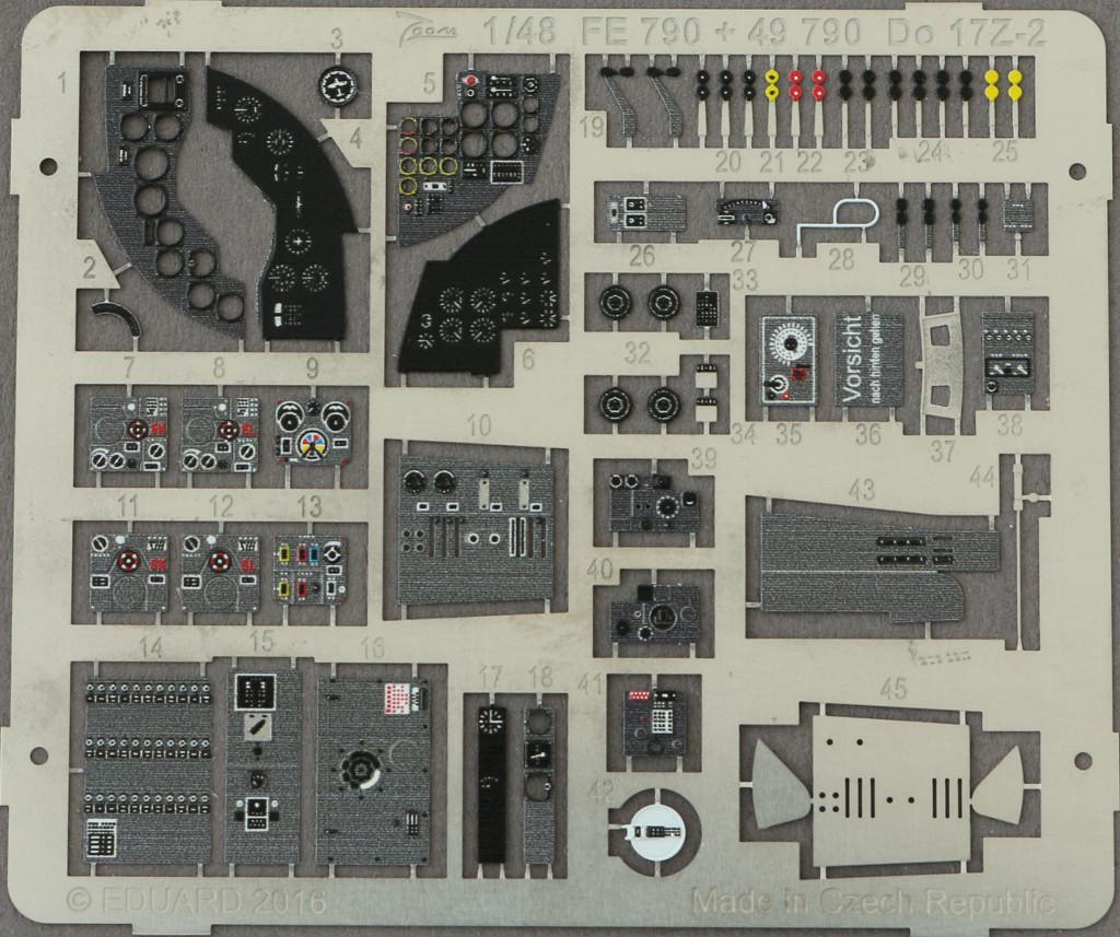5-4 Diverses Zubehör von Eduard für die Dornier Do-17Z-2 von ICM