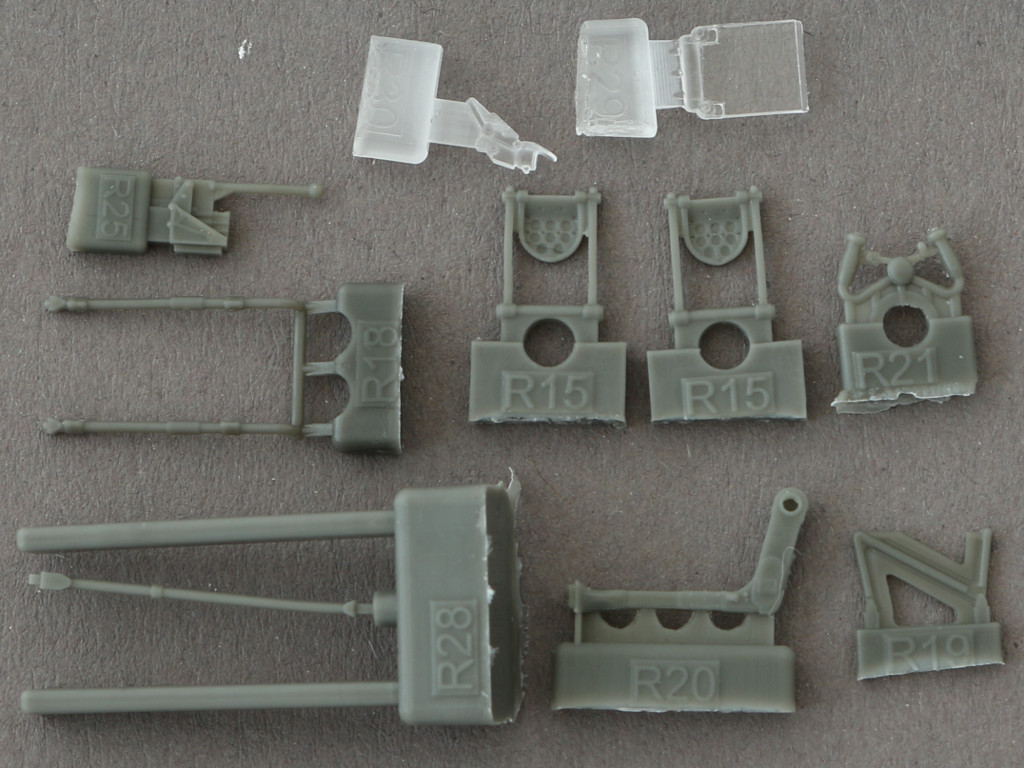 6-2 Eduard Brassin P-38F Cockpit for Academy Kit 1:48 (648277)