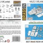 8-1-150x150 Eduard Brassin P-38F Cockpit for Academy Kit 1:48 (648277)
