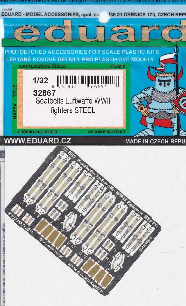 Eduard-32867-Seatbelts-Luftwaffe-WW-II-fighters-STEEL-2 Eduards Seatbelts Luftwaffe WW II Fighters STEEL ( 32867 )