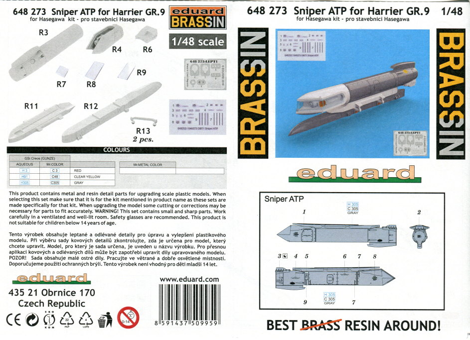 Eduard_Sniper_ATP_09 Zubehör zur Eduard / Hasegawa Harrier Gr.7/9 - 1/48