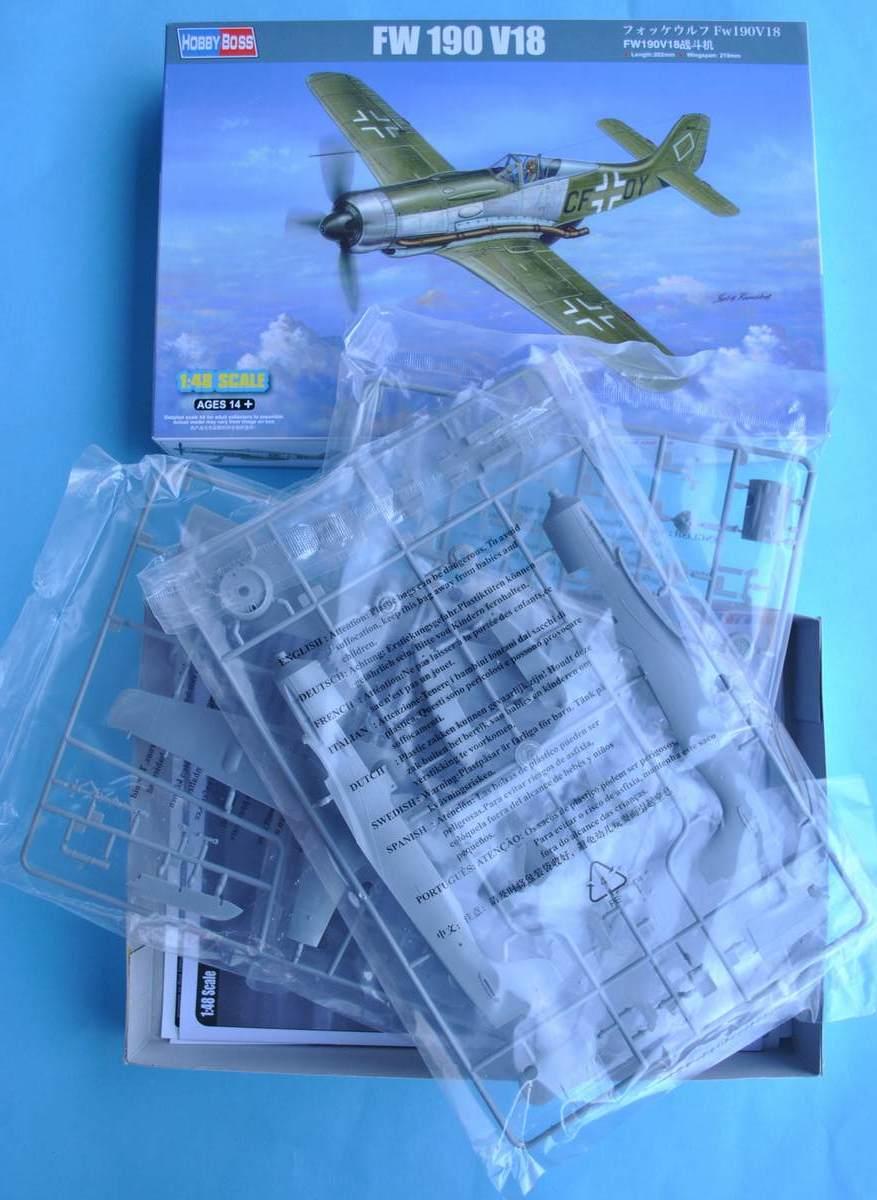 HobbyBoss-81747-FW-190-V18-7 FW 190 V18 von Hobby Boss im Maßstab 1:48 (# 81747 )