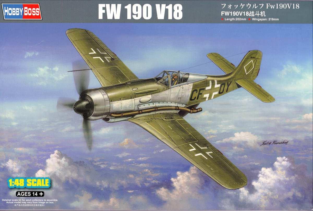 HobbyBoss-81747-FW-190-V18-Deckelbild FW 190 V18 von Hobby Boss im Maßstab 1:48 (# 81747 )