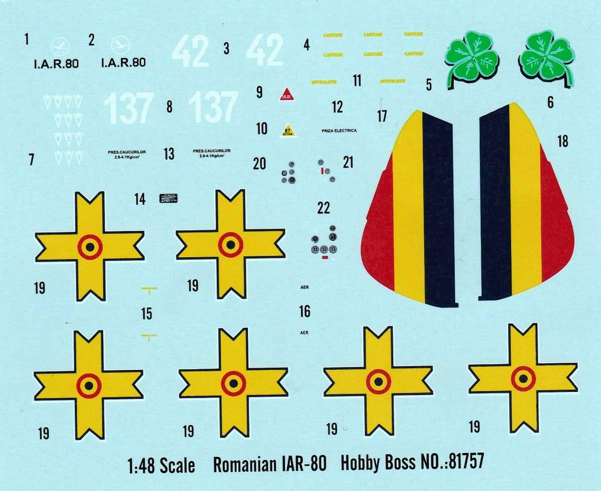 HobbyBoss-81757-IAR-80-9 IAR 80 von Hobby Boss im Maßstab 1:48 (# 81757 )