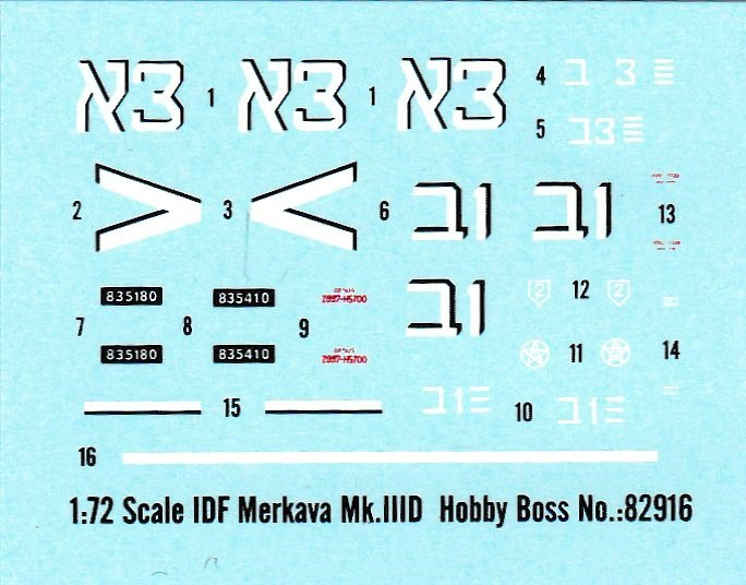 HobbyBoss-82916-Merkava-III-D-22 Merkava Mk. IIID von HobbyBoss im Maßstab 1:72 (83912)