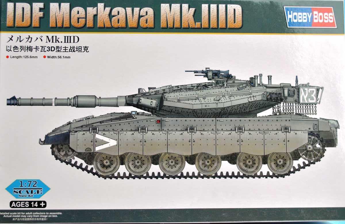 HobbyBoss-82916-Merkava-III-D-30 Merkava Mk. IIID von HobbyBoss im Maßstab 1:72 (83912)