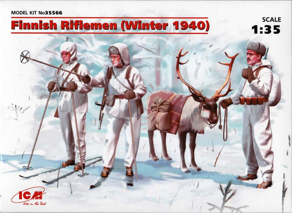 ICM-35566-Finnish-Riflemen-Winter-1940-3 Finnish Riflemen Winter 1940 von ICM (# 35566)