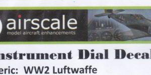 Airscale Instrument Dial Decals Generic Luftwaffe 1:32 und 1:24
