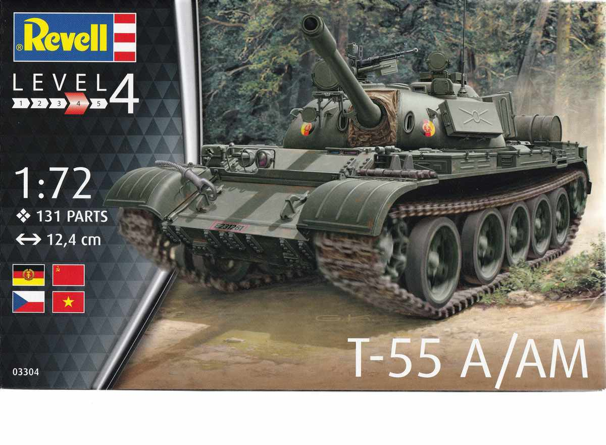 Revell-03304-T-55A-Deckelbild Der neue T-55 A/AM von Revell in 1:72 ( 03304)