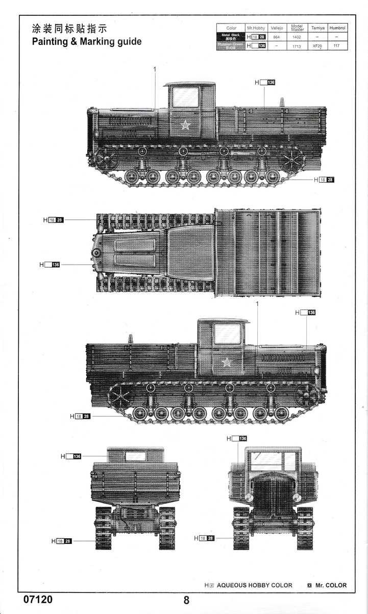 Trumpeter-7120-Komintern-Artillery-tractor-8 Artillerietraktor Komintern im Maßstab 1:72 von Trumpeter (# 07120 )