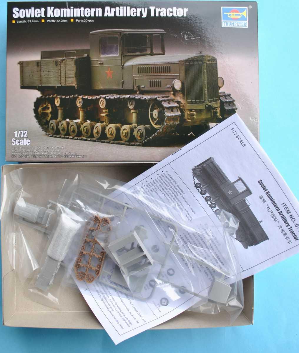 Trumpeter-7120-Komintern-Artillery-tractor-9 Artillerietraktor Komintern im Maßstab 1:72 von Trumpeter (# 07120 )