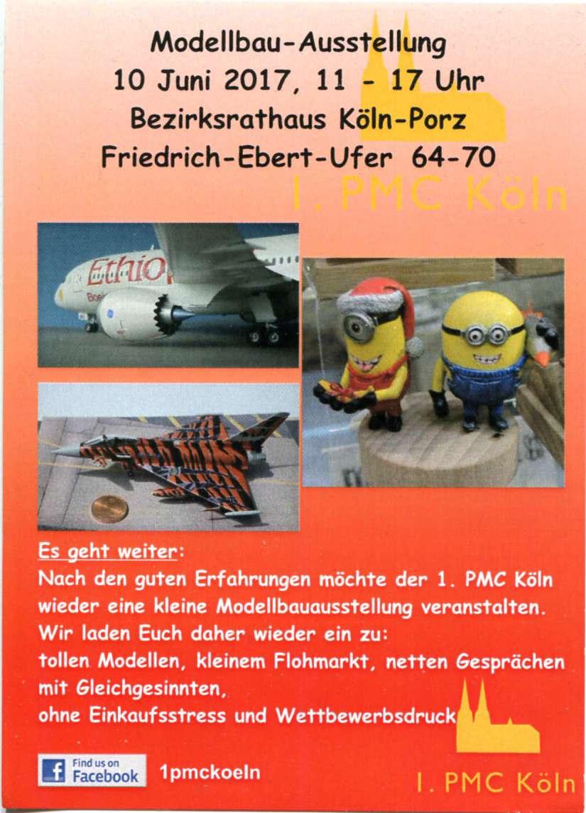 1.PMC-Köln-Ausstellung-2017 Ausstellung des PMC Köln am 10. Juni in Köln-Porz