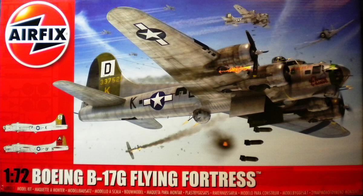 Airfix-A08017-B-17G-Schachtelinhalt-1 Boeing B-17G von Airfix 1:72 ( # A08017)