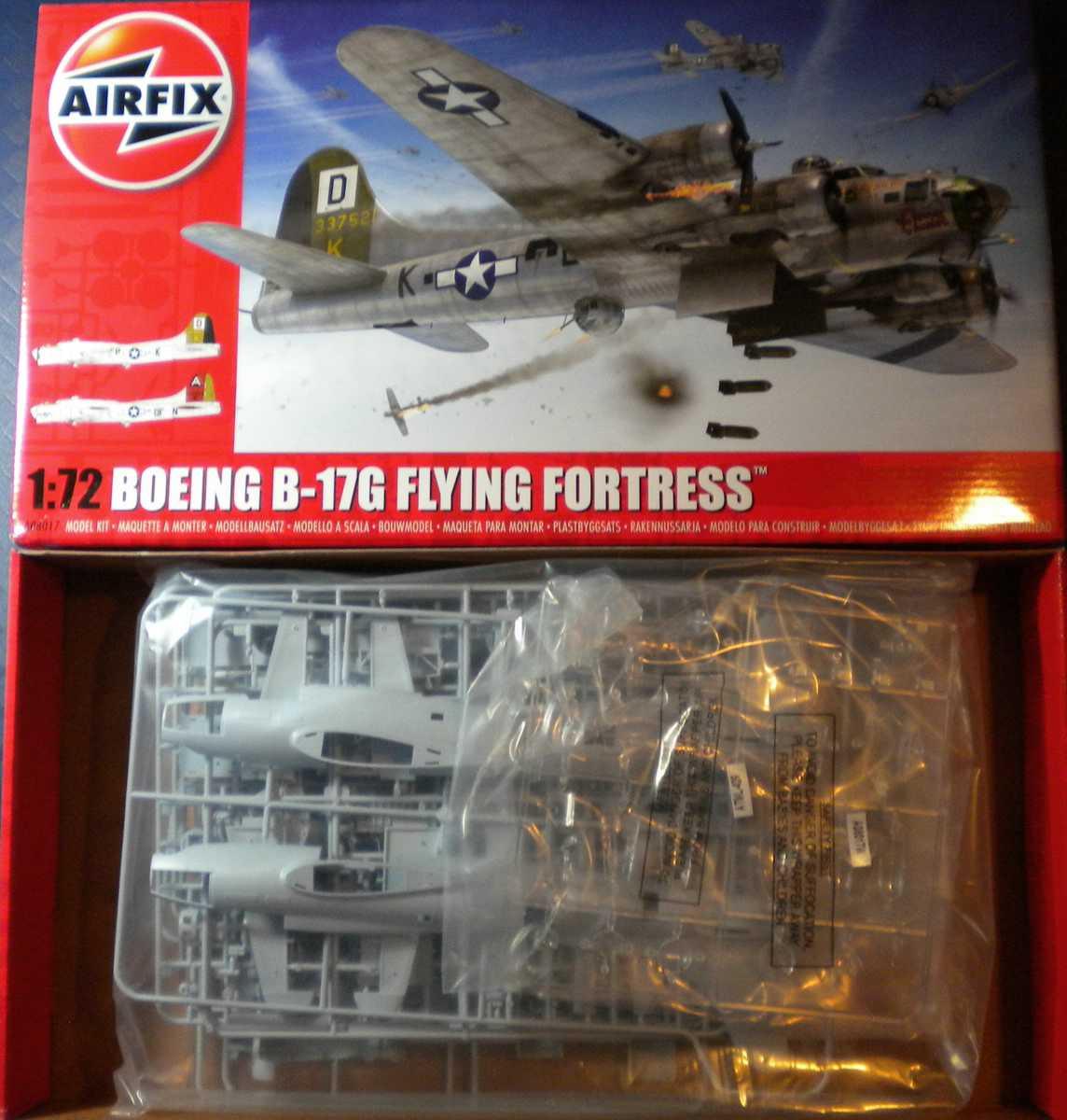 Airfix-A08017-B-17G-Schachtelinhalt-2 Boeing B-17G von Airfix 1:72 ( # A08017)