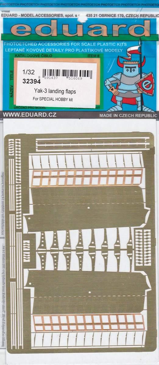 Eduard-32394-Yak-3-landing-flaps-for-Special-Hobby-1 Eduard Zubehör für die Jak-3 von Special Hobby 1:32