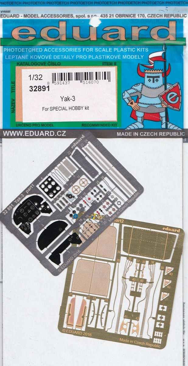 Eduard-32891-Yak-3-für-Special-Hobby-1 Eduard Zubehör für die Jak-3 von Special Hobby 1:32