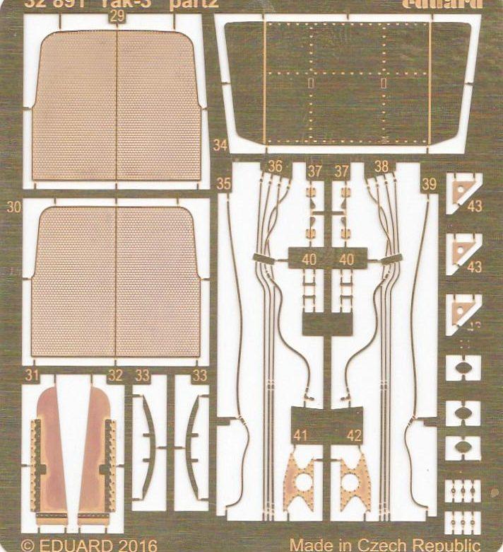Eduard-32891-Yak-3-für-Special-Hobby-2-e1482758226867 Eduard Zubehör für die Jak-3 von Special Hobby 1:32