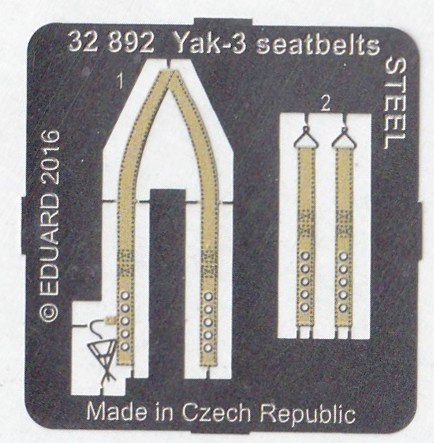Eduard-32892-Yak-3-seatbelts-STEEL-für-Special-Hobby-2 Eduard Zubehör für die Jak-3 von Special Hobby 1:32