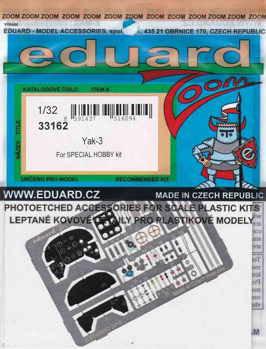 Eduard-33162-Yak-3-ZOOM-für-Special-Hobby-1 Eduard Zubehör für die Jak-3 von Special Hobby 1:32