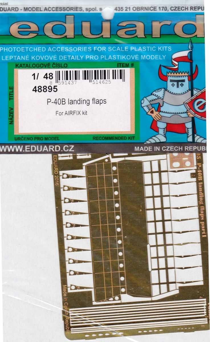Eduard-48895-P-40B-landing-flaps-1 Eduard Zurüstsets für die neue P-40B von Airfix im Quarterscale