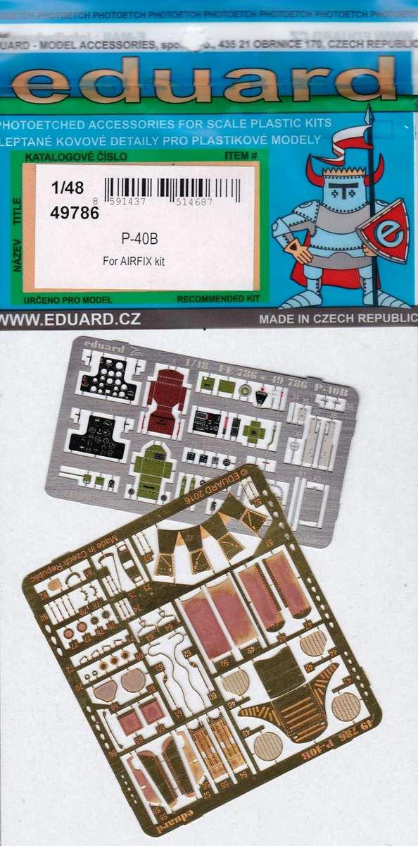 Eduard-49786-P-40B-interior-exterior-1 Eduard Zurüstsets für die neue P-40B von Airfix im Quarterscale