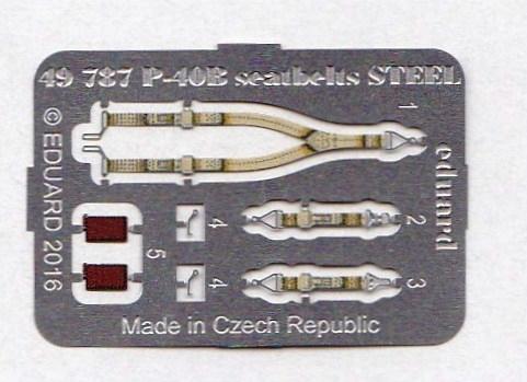 Eduard-49787-P-40B-seatbelts-STEEL-1 Eduard Zurüstsets für die neue P-40B von Airfix im Quarterscale