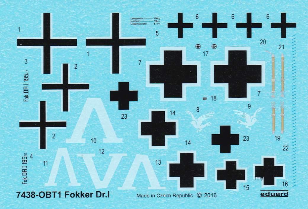Eduard-7438-Fokker-Dr.-I-WEEKEND-26 Fokker Dr. I WEEKEND 1:72 (Eduard # 7438)