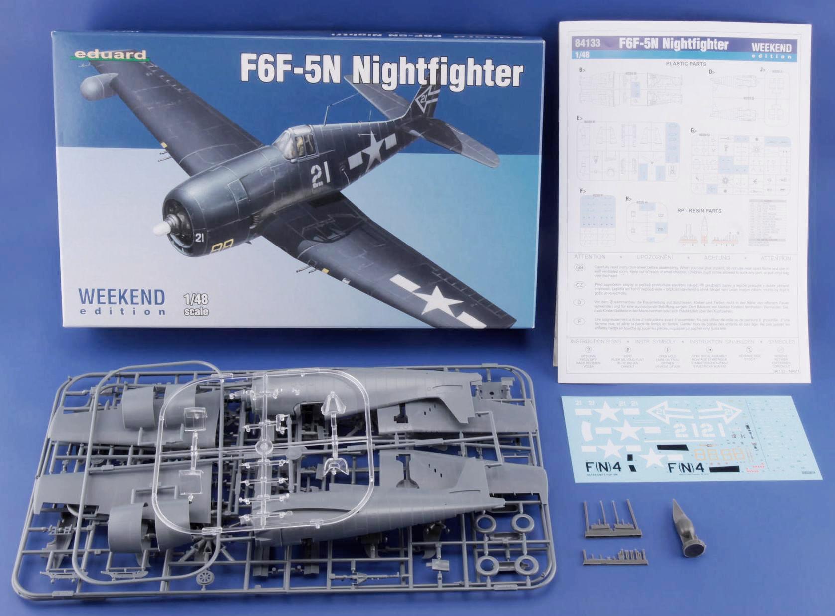 Eduard-84133-F6F-5N-Hellcat-Nightfighter-1-1 F6F-5N Hellcat Nightfighter 1:48 ( Eduard 84133 )