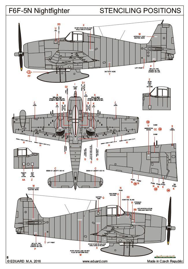 Eduard-84133-F6F-5N-Hellcat-Nightfighter-14 F6F-5N Hellcat Nightfighter 1:48 ( Eduard 84133 )