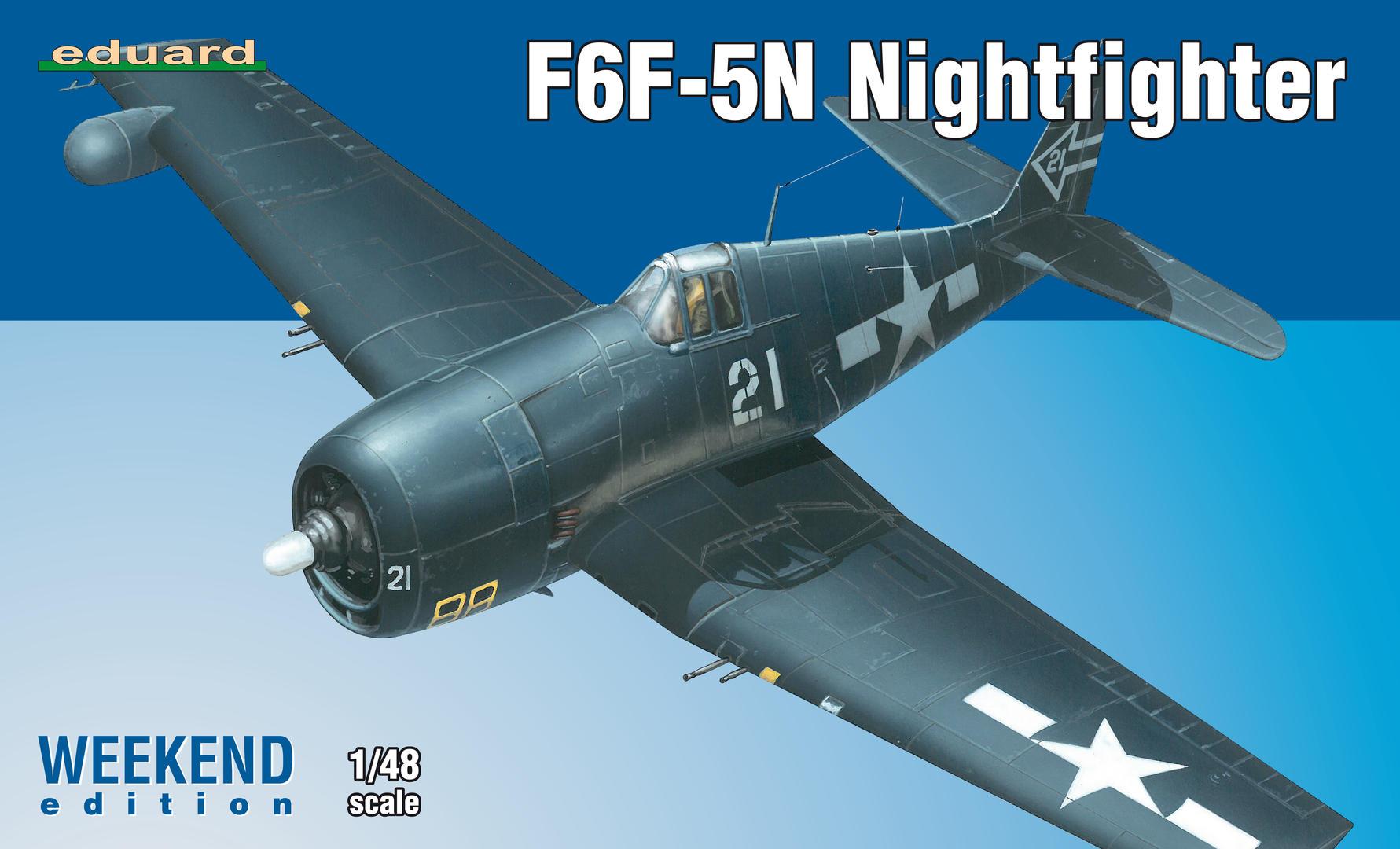 Eduard-84133-F6F-5N-Hellcat-Nightfighter F6F-5N Hellcat Nightfighter 1:48 ( Eduard 84133 )