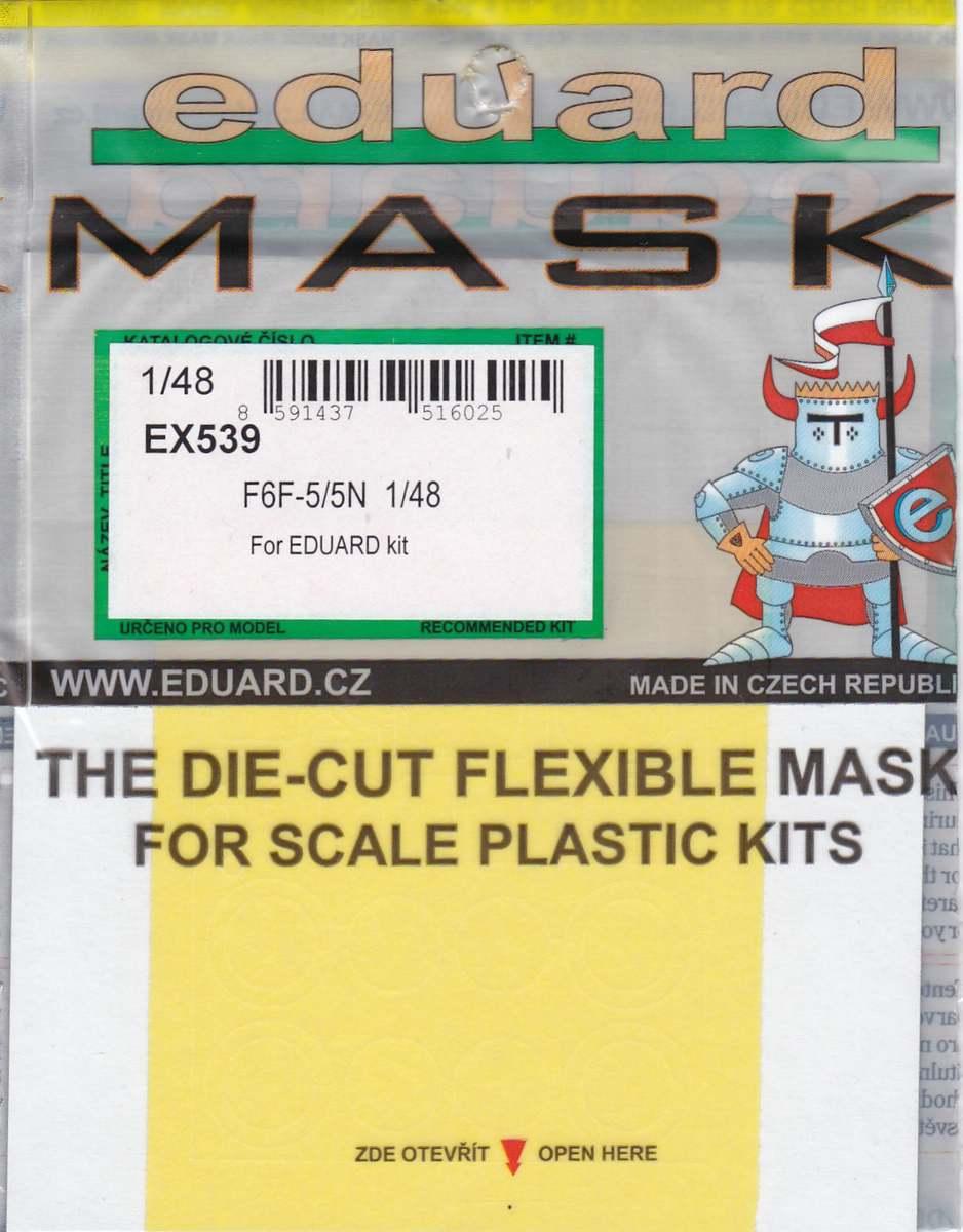 Eduard-EX-539-F6F-5N-Masken-1 Eduard Zubehör für die 1:48er F6F-5N Hellcat