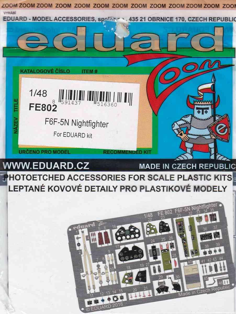 Eduard-FE-802-F6F-5N-ZOOM-1 Eduard Zubehör für die 1:48er F6F-5N Hellcat