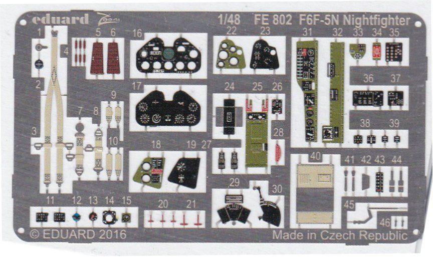 Eduard-FE-802-F6F-5N-ZOOM-2 Eduard Zubehör für die 1:48er F6F-5N Hellcat