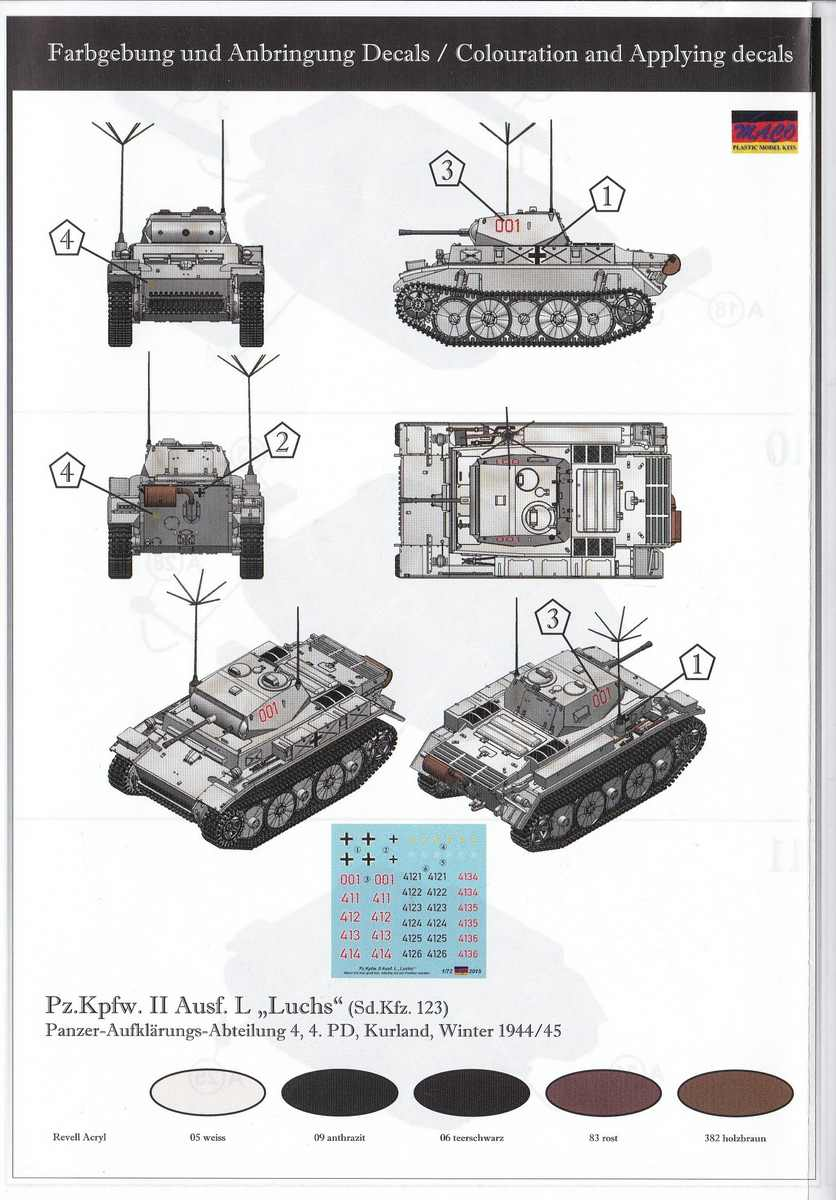 "MACO-7220-PzKpfWg.-II-Ausf.-L-Luchs-7 Panzer II Ausf. L ""Luchs"" in 1:72 von MACO ( # 7220 )"