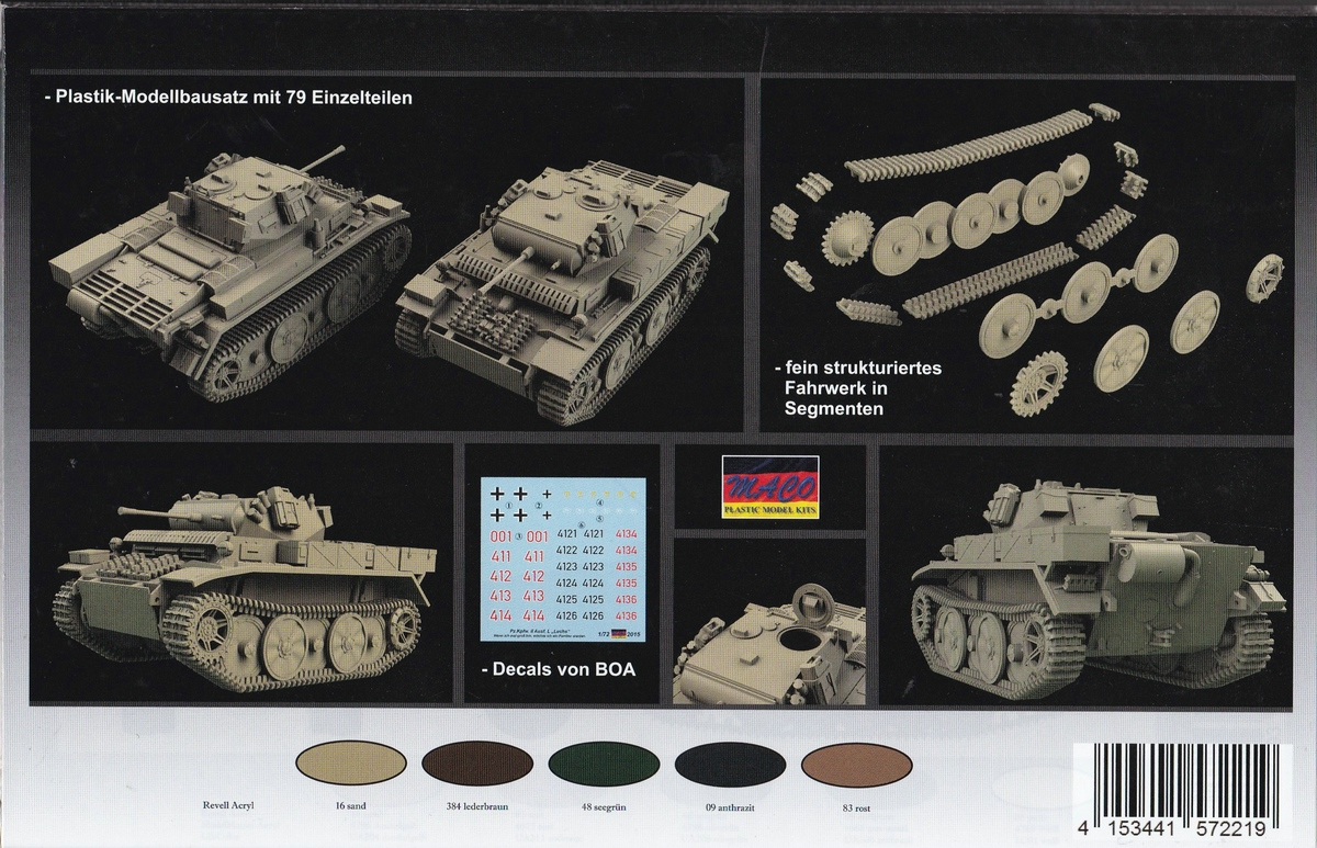 """MACO-7221-PzKpfWg.-II-Ausf.-L-mit-Zusatzpüanzerung-3 Panzer II Ausf. L """"Luchs"""" mit Zusatzpanzerung von MACO ( # 7221)"""
