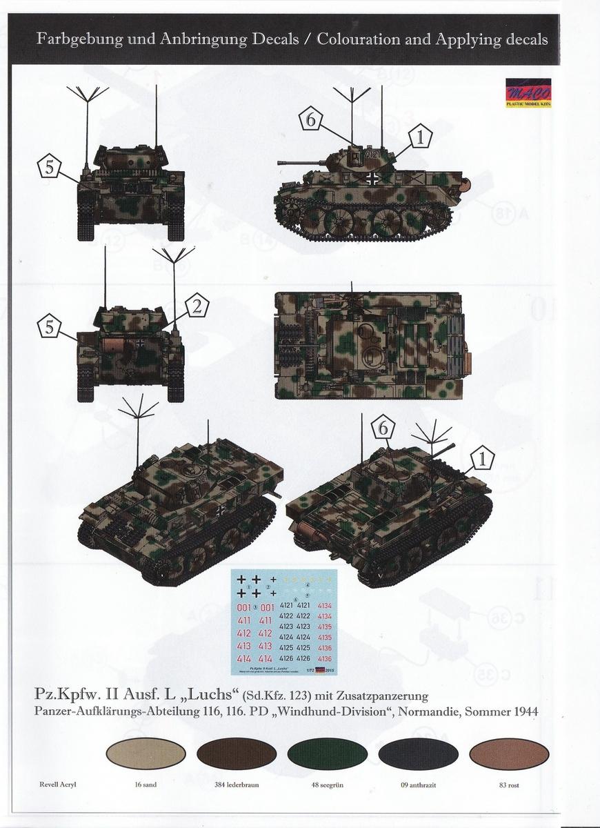 """MACO-7221-PzKpfWg.-II-Ausf.-L-mit-Zusatzpüanzerung-5 Panzer II Ausf. L """"Luchs"""" mit Zusatzpanzerung von MACO ( # 7221)"""