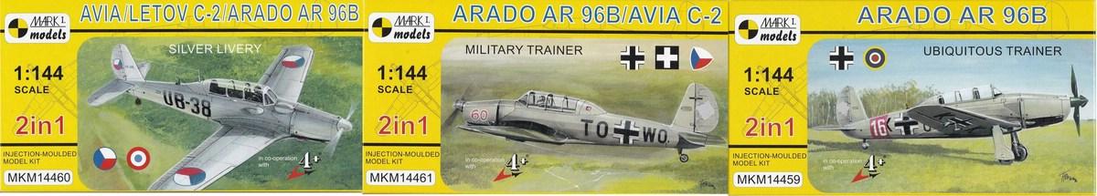 Mark-I-Models-Arado-Ar-96B Arado Ar 96B und Avia C.2 von Mark I Models in 1:144