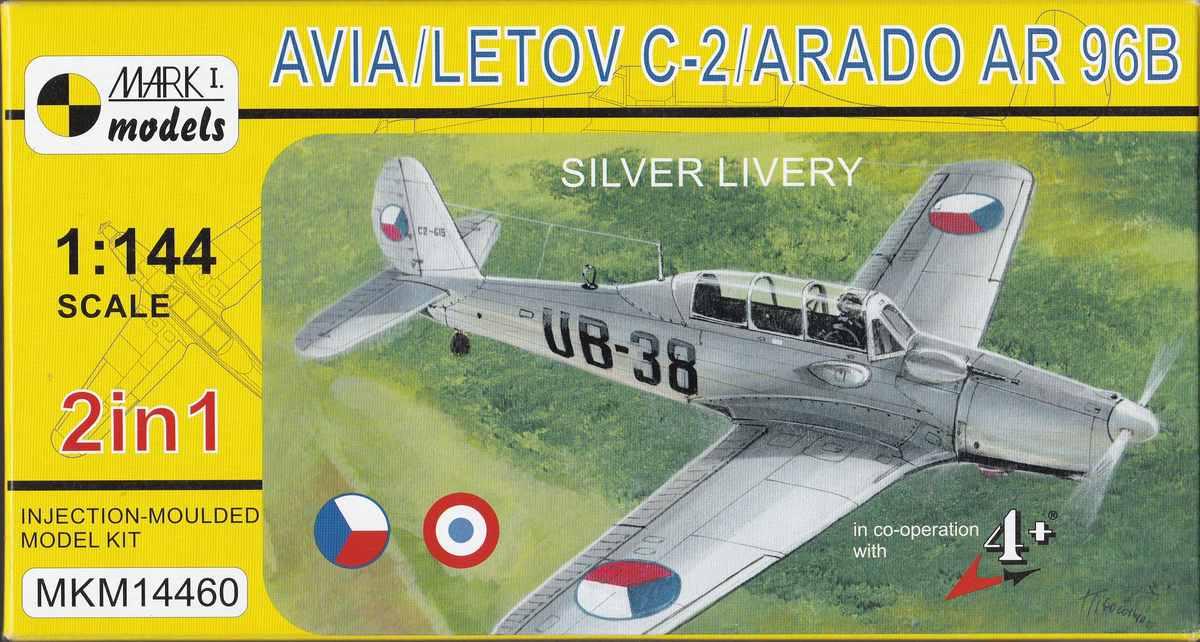 Mark-I-models-Avia-C-2-Ar-96B-Silver-Livery-4 Arado Ar 96B und Avia C.2 von Mark I Models in 1:144