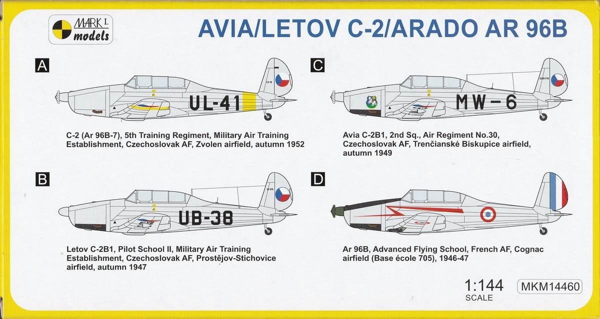 Mark-I-models-Avia-C-2-Ar-96B-Silver-Livery-5 Arado Ar 96B und Avia C.2 von Mark I Models in 1:144
