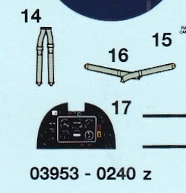 Revell-03953-Spitfire-Mk.-II-decal-Instrumentenbrett Spitfire Mk. II von Revell in 1:72 Testshot